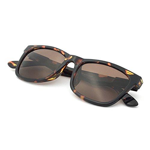 J+S Mission Mark II Rectangle Sunglasses, Polarized, 100% UV protection, Spring Hinged (Tortoise Frame/Brown Lens)
