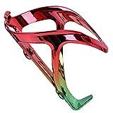 Portabotellas de agua para bicicleta de la marca Facibom, ligero, ajustable, para bicicleta de montaña, bicicleta de carretera, para niños, color rojo y verde degradado