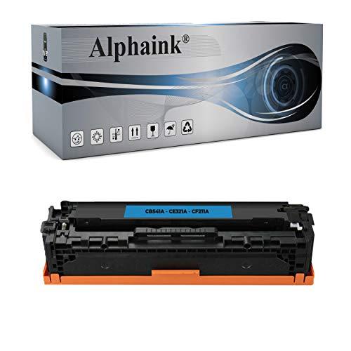 Alphaink Toner ciano Rigenerato Compatibile con HP 125A CB541A per stampanti HP Color LaserJet CM1312nfi CM1312 CM1312n CM1312nf CP1210 CP1215 CP1217 CP1500 CP1515n CP1515 CP1518ni CP1818n