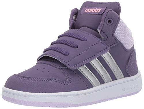 adidas Unisex-Kid's Hoops Mid 2.0 I Sneaker, Tech Purple/Matte Silver/Purple Tint, 3K M US Little Kid