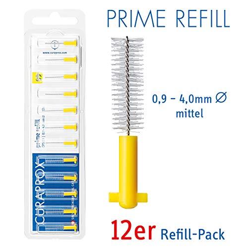 CURAPROX Interdentalbürsten, Größe 0,9mm, 12 Stk, für die Reinigung normal weiter Zahnzwischenräume, Zahnreiniger Bürstchen, CPS 09 prime Interdental Bürsten