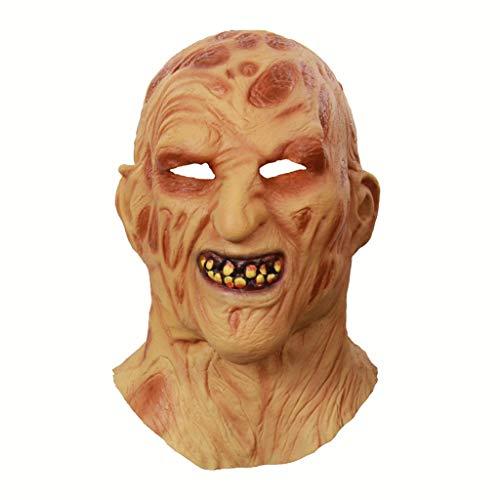 CLGTY Halloween Masker Burn Skull Scary Halloween Cosplay Voor Volwassenen Party Decoratie Props Volledige Hoofd Masker, 20×32CM, Burn skull