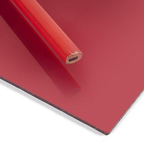Metacrilato espejo Rojo - DINA5 x 3 mm