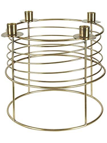heine home dekorativer Kerzenleuchter Moderne Optik Gold ca. H/Ø ca. 24,5/30 cm