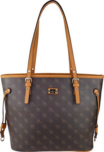 B BRENTANO Vegan Leather Shoulder Tote Bag (BB Brown)