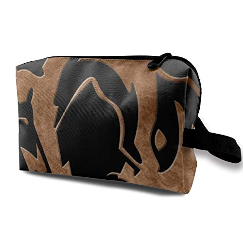 Trousse de Maquillage Cosmetic Pouch Foxhound Symbol Dirty Brass Metal Gear Solid Multi-Functional Bag Travel Kit