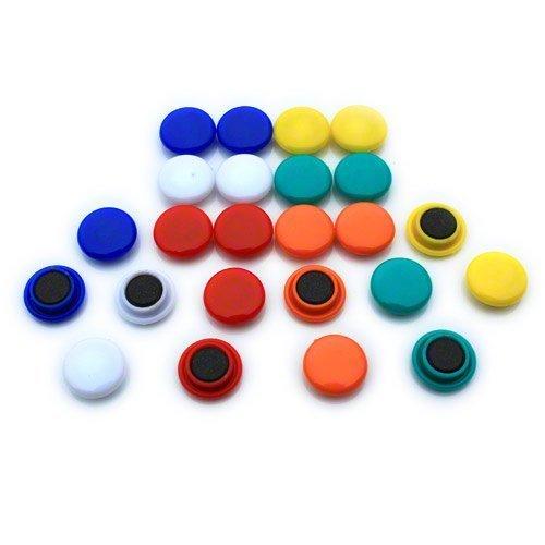Magnet Expert - Magneti piccoli per planning/lavagnetta da cucina in ufficio e sul frigorifero 20 x 7.5mm (confezione da 24)