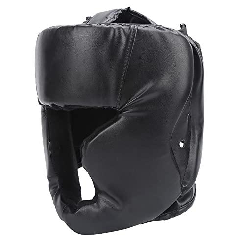 01 Casco Grueso de Boxeo, Cuero de PU Grueso + Casco de Entrenamiento de Boxeo de Esponja para Entrenamiento de Boxeo para protección de la Cabeza