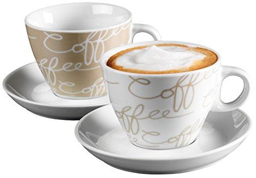 Ritzenhoff & Breker Cappuccino-Set Cornello Creme, 4-teilig