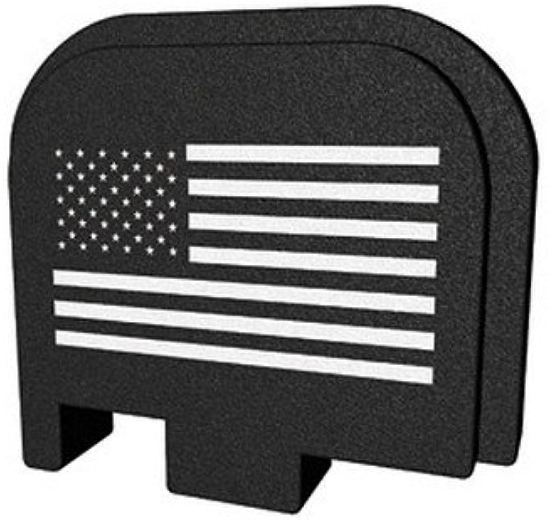 Bastion Laser Engraved Butt Plate Rear Slide Cover Back Plate for Glock 43 9mm G43 Only - USA Flag