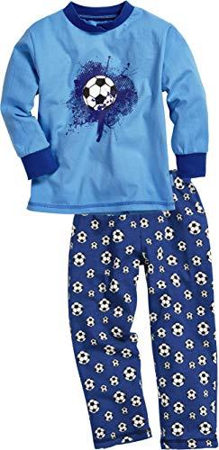 Playshoes Jungen Single-Jersey Fußball Zweiteiliger Schlafanzug, Blau (original 900), (Herstellergröße: 110)