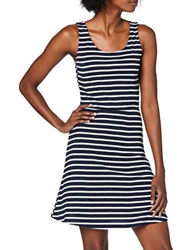 VERO MODA Damen VMBRADLY S/L Beach Dress EXP Kleid, Navy Blazer, XL