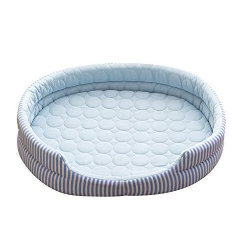 JuneJour Hundebett Hundekühlmatte Selbst Kühlende Hundematte Kühlkissen Hundebett Sommer wasserdichte rutschfeste Bett für Hunde Katze
