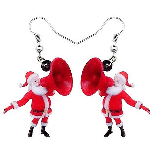 DFHTR Acryl Weihnachten Lautsprecher Ohrringe Drop Dangle Schmuck Für Frauen Mädchen Charms Anhänger Ohrringe , Festival Party Geschenke