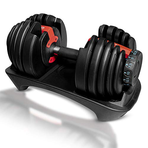 DREAM VYBZ (Single Adjustable Dumbbell 5 to 52.5 lbs  Home Gym   Weights  Barbell Weight Set  Exercise & Fitness Dumbbells  Adjustable Dumbbells  Weight Bench  Workout Equipment  dumbellsweights Set