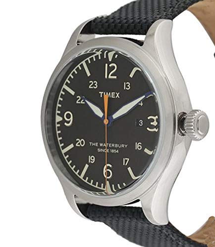 Timex Waterbury Black Dial Canvas Strap Men's Watch TW2R38500