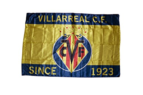 Villarreal CF Badvil Bandera, Amarillo/Azul, Talla Única