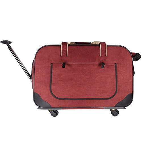 Xlin Trolley koffer voor kinderwagens met vier wielen voor huisdieren, opvouwbaar voor demontage van huisdieren, 62 * 35 * 39cm, Rood
