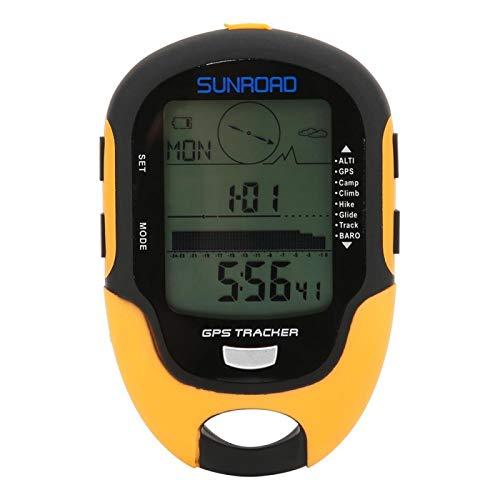 Altímetro electrónico GPS, Grado impermeable IPX4, Compatibilidad con sistema dual GPS, Temperatura Humedad Hora Fecha Reloj despertador Función de linterna, FR510 ABS Medidor de altitud de navegación