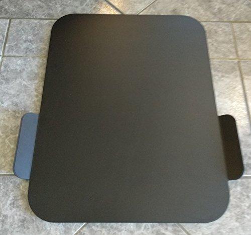 BSB Gleitbrett L 440x340 mm Alu eloxiert schwarz geeignet für einen Thermomix® und andere