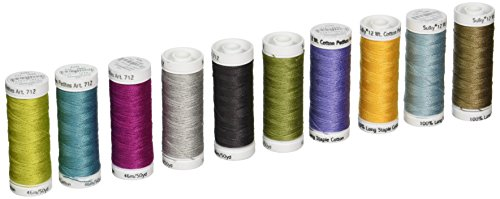 Sulky 712-29 Grand Collection Crossroads Cotton Petites 12 Weight ,10 Pieces Per Pack , Multicolor