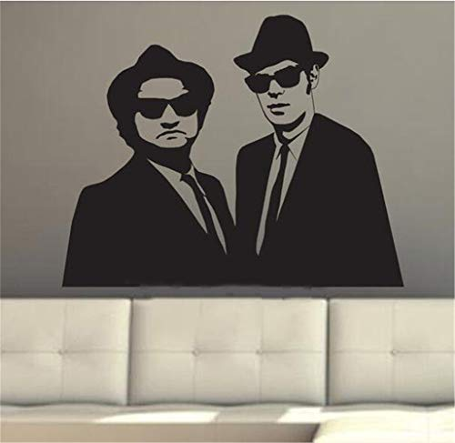 Muurstickers voor woonkamer The Blues Brothers Wall Poster Sticker Amerikaanse Blues en Soul Revivalist Band Decal voor woonkamer 24.4x19.5 inch