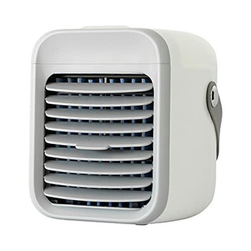 Ventilador evaporativo Recargable del Aire Acondicionado del acondicionador de Aire con 3 velocidades Blanco