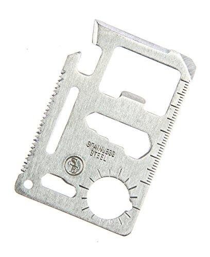 SE 11-Function Stainless Steel Survival Pocket Tool, Blister Packaging - MT908