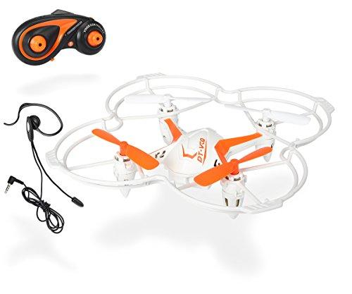 Dickie Toys 201119432 - RC DT VCQ-Voice Quadrocopter, funkferngesteuert mit Sprachsteuerung, 12 cm