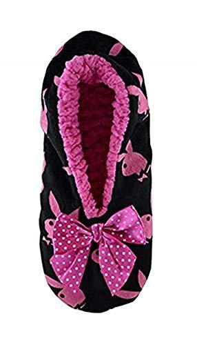 Playboy Damen Hausschuhe mit Schleife 1er Pack (Creme)