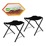 Onefeng Sports 150LBS Foldable Kayak Stand Kayak Storage Rack Ground Storage Stand Rack Perfect for Getting Your Boat of Ground for Easy Storage - Designed with Black Cloth Like Chairs
