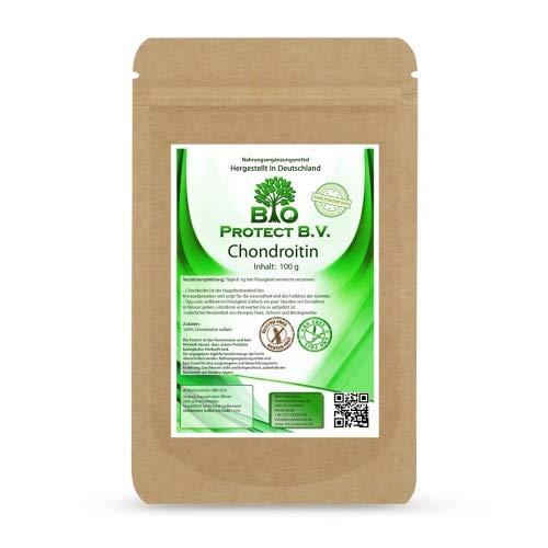Chondroitin Pulver 100g im Beutel - Einführungspreis - 100% ohne Füll- und Zusatzstoffe - Chondroitinsulfat in Premiumqualität von Bio Protect BV immer ohne Magnesiumstearate
