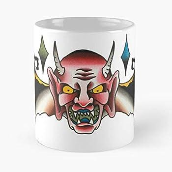 Old Design Traditional American Usa Tattoo British School The best 11oz White marble ceramic coffee mug