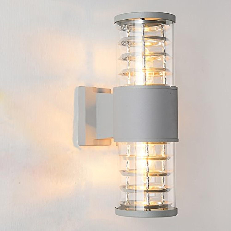 TOYM UK Europische im Freien zylinderfrmige Wand-Licht-Balkon-Halle beleuchtet Korridor-einfache wasserdichte Beleuchtungs-Lampen (Farbe   Double head)