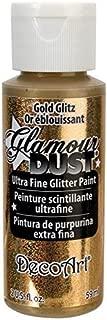 DecoArt Glamour Dust 2-Ounce Gold Glitz Glitter Paint