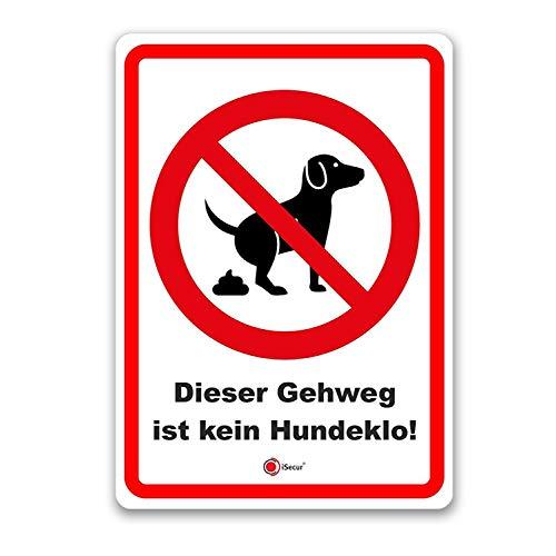Hinweis-Aufkleber Dieser Gehweg ist kein Hundeklo! I hin_190 I DIN A6 I Verbotsaufkleber keine Hundetoilette I Hunde koten verboten I Laternenaufkleber