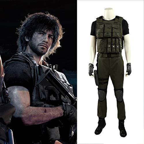 Rubyonly Resident Evil 3: Remake Resident Carlos Oliveira Cosplay Kompletter Anzug für Männer Erwachsenen Halloween-Karneval,L
