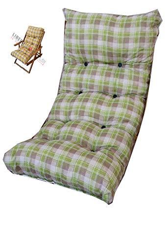 LIBEROSHOPPING.eu - LA TUA CASA IN UN CLIK Cuscini Cuscino Imbottito di Ricambio per Poltrona Sdraio Relax Tessuto Cotone
