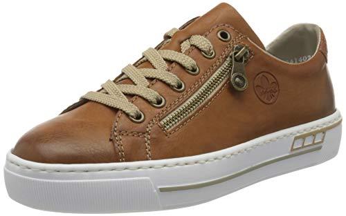 Rieker Damen Frühjahr/Sommer L88 Slip On Sneaker, Braun (Cayenne/Braun/ 24 24), 42 EU