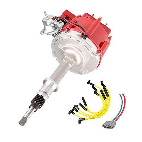 MOSTPLUS Ignition Distributor 65K Coil W/Plug Wires Compatible with 1956-1990 AMC/Jeep Incline 6 4.2L 232/258 CJ5 CJ7