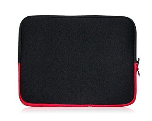 Sweet Tech Schwarz/Rot Neopren Schutzhülle Sleeve Passend für Mediacom SmartPad 10.1 Zoll iPro Tablet 3G