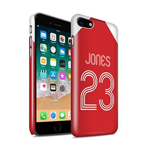 Stuff4 Telefoonhoesje/Cover/Skin/IP-3DSWG / Custom Football Club Shirt Kit Collectie Apple iPhone SE 2020 Rood Wit