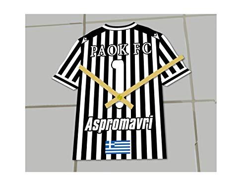 MyShirt123 - Orologio da calcio Pak Salonika FC Football Club – qualsiasi nome e qualsiasi numero – a scelta.