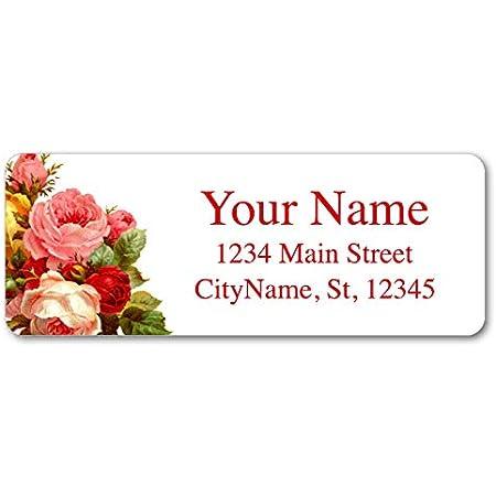 Personalized Address Labels  Oh Carolina  Floral Bouquet  Custom Labels  Envelope Seals  Wedding Labels  Flower Stickers