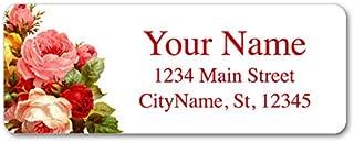 Personalized Return Address Labels - Beautiful Flowers Vintage Roses - 120 Custom Self-Adhesive Stickers