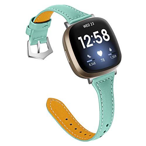 XIALEY Correas Compatible con Fitbit Versa 3 / Sense, Pulsera De Cuero De Repuesto para Mujer, Hombre, Banda, Correas De Reloj, Pulsera Compatible con El Reloj Inteligente Versa 3 / Sense,G