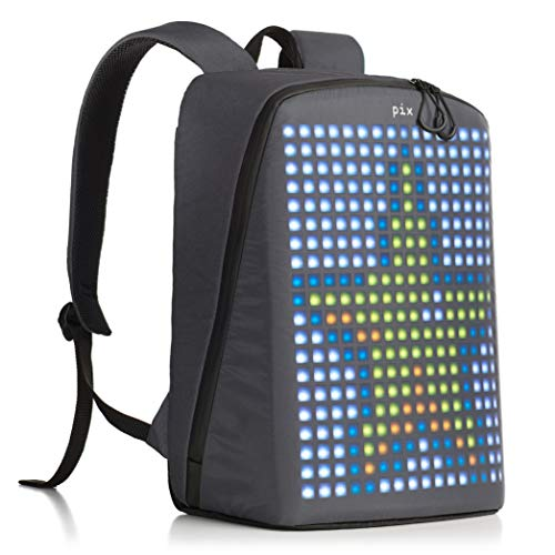 Save %27 Now! PIX Backpack with Programmable Screen, Grey, Large