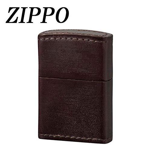 厚くて丈夫なレザー巻のジッポー。 ZIPPO 革巻 ブライドルレザー オーストラリアンナッツ 〈簡易梱包