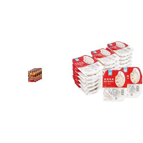 味の素 CooKDo コリア! 豆腐チゲ用 3-4人前×4箱 + Happy Belly パックご飯 新潟県産こしひかり 200g×20個(白米) 特別栽培米