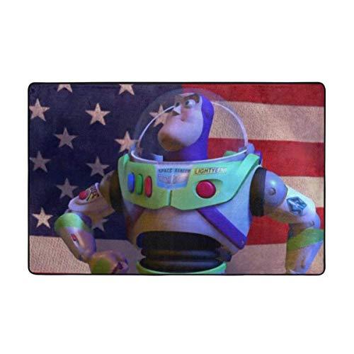 gaoyou Toy Story Buzz Lightyear Teppich rutschfeste Teppiche Schlafzimmer Camping Weiche Teppiche Kinderzimmer Teppich...